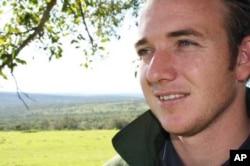 Conservationist Ian Stewart surveys his land