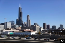 FILE — Once the world's tallest building, the 110-story Sears Tower is now known as the Willis Tower, Nov. 7, 2013.
