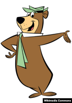 Cartoon character Yogi Bear