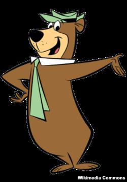 Cartoon character Yogi Bear