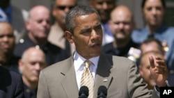 President Barack Obama speaks in the Rose Garden at the White House, May 12, 2012.
