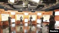El primer debate presidencial en México no tuvo ni ganadores ni perdedores. De izquierda a derecha: Enrique Peña Nieto, Josefina Vázquez, Gabriel Cuadri y Andrés Manuel López Obrador.