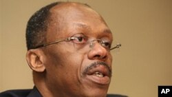 Former Haitian President Jean-Bertrand Aristide during a press conference in Johannesburg, South Africa (file photo)