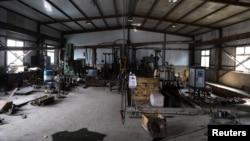 中国辽宁沈阳一个工业园区里的一家金属热处理工厂停工。(2021年9月30日)