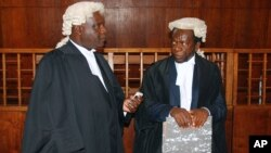 Lawyers in the court
