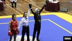 منصوریان پس از کسب مدال در مسابقات جهانی ووشو