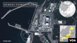关于日本核电站的谷歌地图