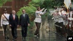 Predsednici Kube i Francuske, Raul Kastro i Fransoa Oland