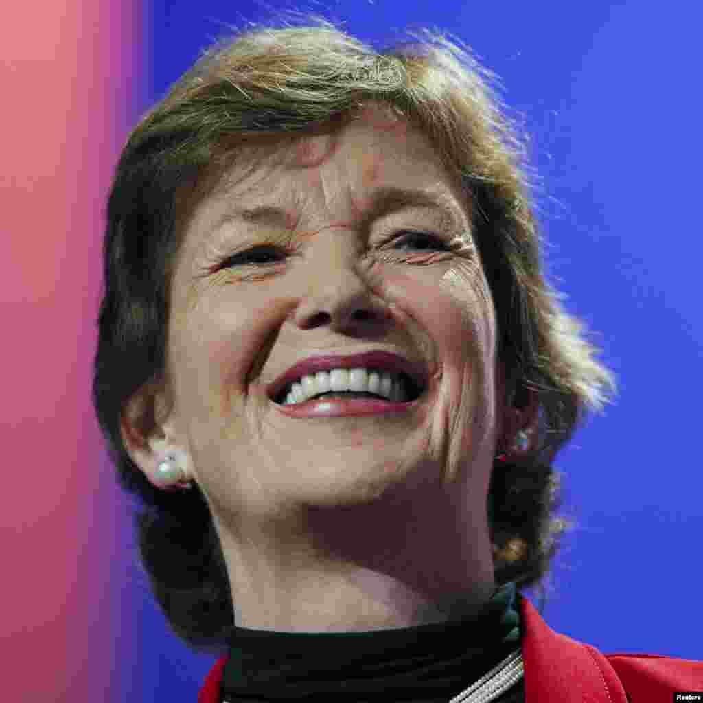 Mary Robinson, bivša predsjednica Irske, na skupu o poduzetništvu u zaštiti okoline, u New Yorku, 21. septembra 2010. (Reuters)