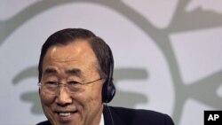 بانکی مون منشی عمومی سازمان ملل متحد که قرار است برای دور دوم آن سِمت را عهده دار شود.