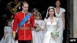 Ðôi tân hôn Hoàng Tử William và phu nhân, nữ công tước Cambridge sau phép hôn phối