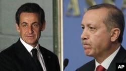 رجب طیب اردغان صدراعظم ترکیه- نیکولا سرکوزی رئیس جمهور فرانسه