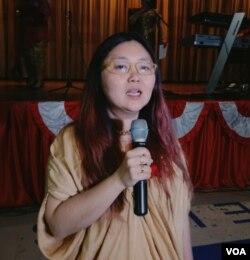 Priscillia Sundah Suntoso, Co-Founder Amerika BerSatu (Foto: VOA/Naratama).