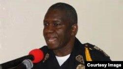 FILE - Liberian Police Chief Chris Massaquoi.