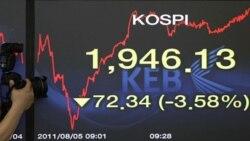 نگرانی های بازارهای بورس آمریکا و اروپا به آسیا سرایت می کند