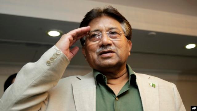 FILE - Former Pakistani President Pervez Musharraf, March 23, 2013.