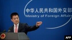 Người phát ngôn Bộ Ngoại giao Trung Quốc họp báo tháng 7/2016 (ảnh tư liệu)