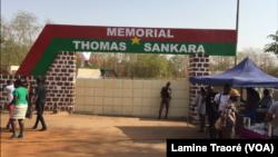 Entrée du mémorial Thomas Sankara au conseil de l'Entente, Ougadougou, le 3 mars 2019. (VOA/ Lamine Traoré)