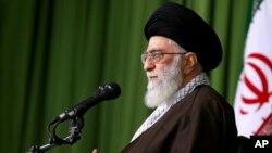 아야톨라 알리 하메네이 이란 최고지도자. (자료사진)