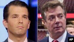 """La comisión inicialmente llamó a Donald Trump Jr. y a Paul Manafort a comparecer en una audiencia pública el miércoles, pero ahora los dos """"invitados"""" negocian los términos de su comparecencia."""