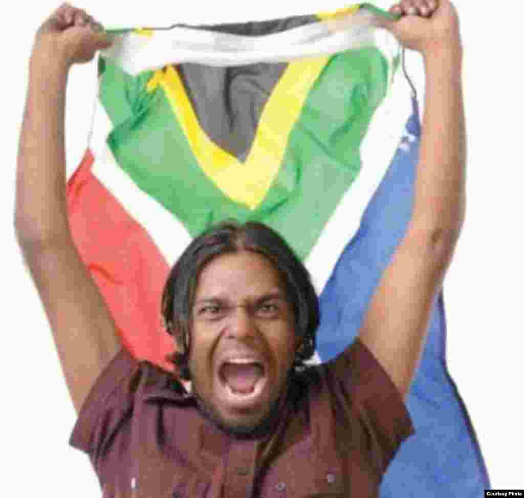Dhaveshan Govender, a master at satirizing Indian South Africans' obsession with Manchester United (Courtesy D. Govender)