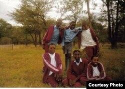 UNkosazana Precious Sibalo labangane bakhe eMtshabezi High School. (Courtesy Photo: Precious Sibalo)