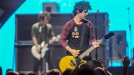 Green Day performing in Las Vegas, Nevada
