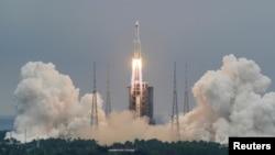 Lansiranje kineske rakete 29. aprila 2021.
