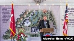Başbakan Erdoğan dün Washington'daki ilk gününde, yakındaki Maryland eyaletinde bulunan Türk-Amerikan Kültür ve Medeniyet Merkezi'nin temel atma törenine katıldı