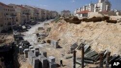 Cтроительство домов для еврейских семей в Восточном Иерусалиме. Архивное фото.