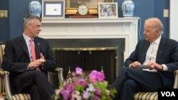 Takimi Biden - Thaçi në Uashington