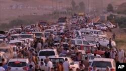 Cộng đồng Yazidi chạy ra khỏi thị trấn Sinjar và Zunmar sau khi các phần tử chủ chiến tấn công vào thị trấn