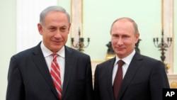 عکس آرشیوی از دیدار ولادیمیر پوتین رئیس جمهوری روسیه با بنیامین نتانیاهو نخست وزیر اسرائیل در مسکو - پائیز ۱۳۹۲