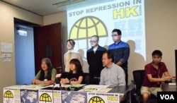 香港團體發起全球聲援行動。(美國之音湯惠芸)
