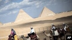 Egypt's pyramids are key to the country's tourism business.