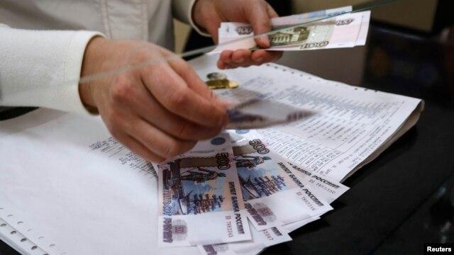Đồng rúp của Nga liên tục mất giá.