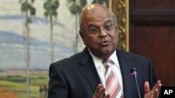 Le ministre sud-africain des Finances limogé, Pravin Gordhan, 9 juillet 2012.