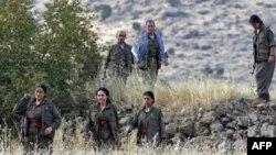 Kuzey Irak'ın Kandil Dağı'nda üslenen PKK militanları