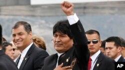 """""""Estados Unidos tiene en marcha una agresión económica contra Venezuela porque la conspiración política les falló"""", dijo Morales."""