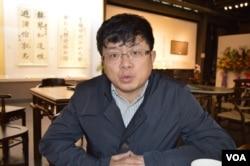 民國教育史學者兼企業家鄧康延(美國之音申華拍攝)