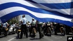 Protest grčkih policajaca, Atina, 8. jul 2013.