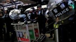 VOA连线(林枫):香港警察召开记者会回应818集会游行