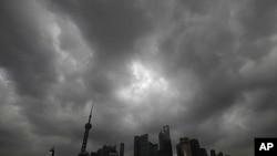 上海天氣轉差。