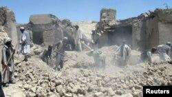 지난 2012년 6월 아프가니스탄 로가르 주에서 나토군 공습으로 파괴된 건물. (자료사진)