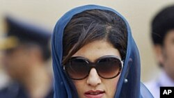 Pakistan's Foreign Minister Hina Rabbani Khar (file photo)