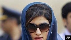 Pakistan's Foreign Minister Hina Rabbani Khar (file photo)