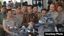 Presiden Joko Widodo di PTIK Jakarta Selasa 8 November 2016. (Foto Biro Pers Kepresidenan)