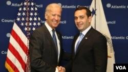 Georgia Defense Minister Alasania meets Vice President Joseph Biden