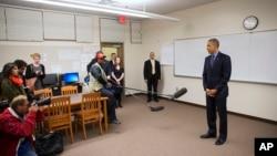 Predsednik Barak Obama nakon susreta sa porodicama žrtava napada u San Bernardinu