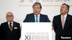 Países miembros del Grupo de Lima reiteraron el lunes 25 de enero de 2019 su apoyo a la democracia en Venezuela y el respaldo al presidente interino Juan Guaidó.